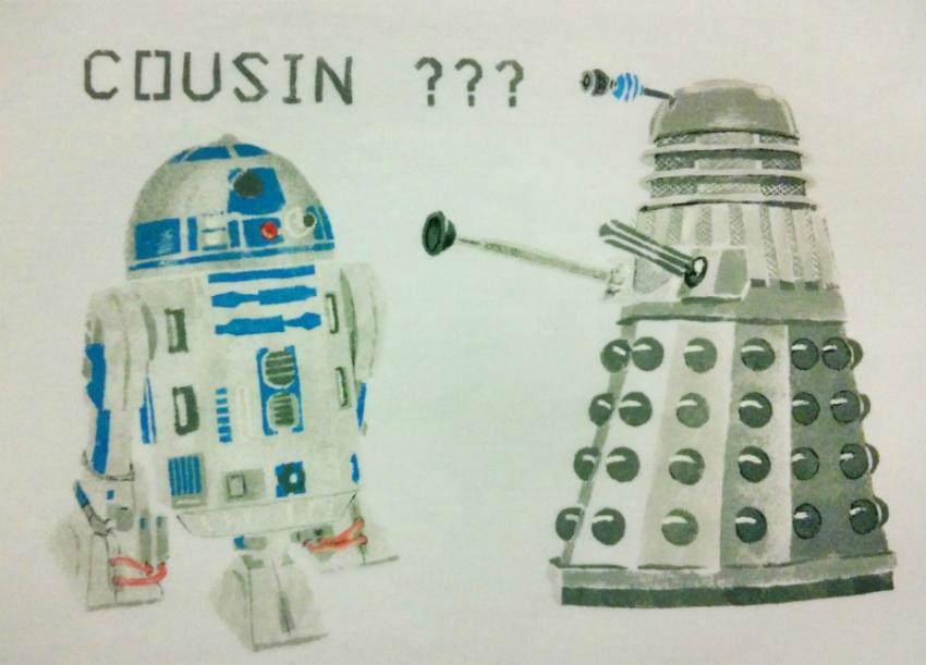 Doctor Who Monster, R2-D2 par Hamamelis